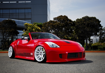 Nissan 350Z con Work Emotion Kiwami