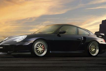 Porsche con Work Wheels Brombacher