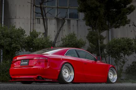 Audi A5 con Work Wheels Gran Seeker CCX