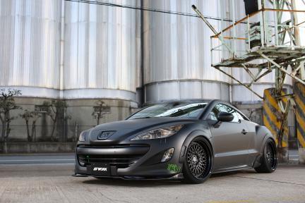 Peugeot RCZ con Work Wheels Gran Seeker CCX