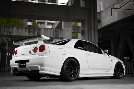 Nissan GTR R34 con Work Wheels MCO TypeCS