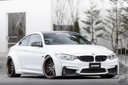BMW M4 F82 con Work Emotion CR 2P