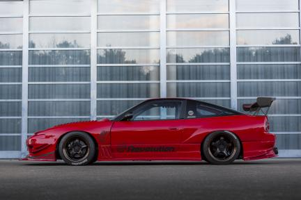 Nissan Silvia 180SX con Work Meister S1R
