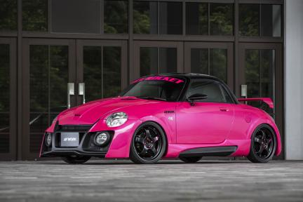 Daihatsu Coppen con Work Wheels Meister S1R