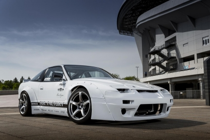 Nissan Silvia 180SX con Work Emotion T5R